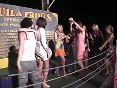 Chicks dance at show us their tits tubes