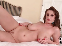 Glamorous big tits brunette is a sensual solo treat tubes