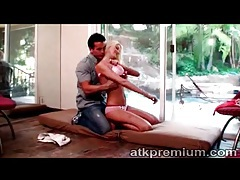 Young blonde gets naked with him for 69 tubes