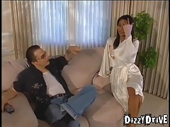 Asian in a satin robe wants a good fuck tubes