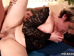 Black lace lingerie on cute momma he fucks hard tubes