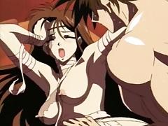 Thrusting cock erotically into sexy hentai girl tubes