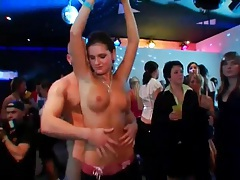 Blowjobs and hot sex spice up a club party tubes