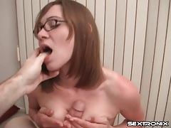 Blowjob and ass tease from skinny girl tubes