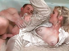 Fucking in the mud with a big boobs blonde chick tubes