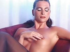 Beauty in lingerie dildo fucks her vagina tubes