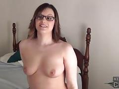 Cute girl slips purple dildo in her asshole tubes