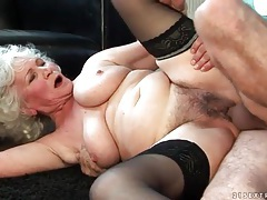 Granny fucked in hairy box by rock hard cock tubes