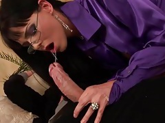 Satin blouse cocksucker has anal hardcore sex tubes
