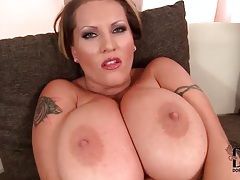 Huge tits girl fondles solo for you tubes
