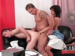 Cocksucking and anal in a bisexual threesome tubes