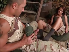 Military girl gives him a sexy blowjob tubes