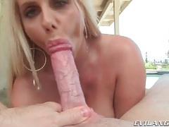 Big milf tits surround his cock during titjob tubes
