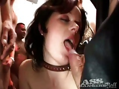 Girl in cute choker is hot anal gangbang slut tubes