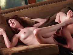 Fucking her in spoon position and groping her tits tubes