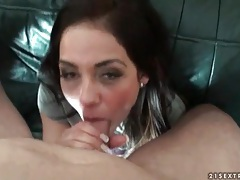 Young lady in handcuffs fucked in missionary tubes