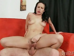 Tattooed katie st ives fucked in hairy pussy tubes
