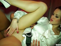 Wet cunts of party girls fucked deep and fast tubes