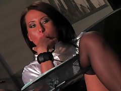 Erotic office sex with two satin lesbian babes tubes