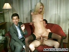 Amateur girlfriend anal group sex with facial shots tubes