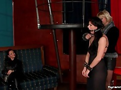 Mistress dressed in black dominates girls tubes