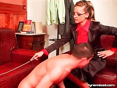 Naked man spanked on ass by mistress tubes