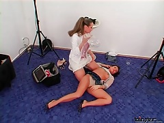 Mistress tapes up the face and body of her girl tubes