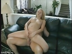 Reverse cowgirl sex with shaved pussy on dick tubes
