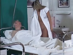 Old man gets handjob and bj from his nurse tubes
