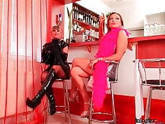 Latex is sexy on these two dominant girls tubes