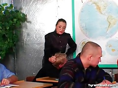 Mistress and her submissive male students tubes