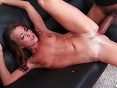 Flexible slim girl fucked by huge black cock tubes