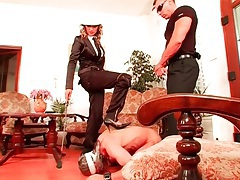 Trampling and pony riding with bound sub guy tubes