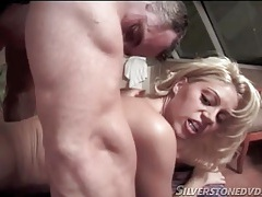 Blonde babe opens legs wide for hardcore sex tubes