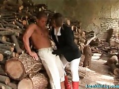 Sexy riding clothes on hot girl sucking dick tubes