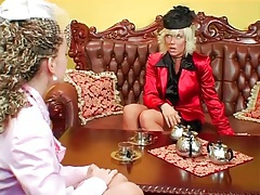 Tea loving ladies have a catfight for fun tubes