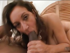 Black dick fills up wet milf pussy in cock ride tubes
