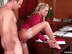 Cfnm office sex with gorgeous blonde girl tubes