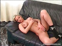 Glamorous solo blonde with big set of tits tubes