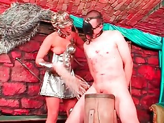 Mistress is brutal with his cock and balls tubes