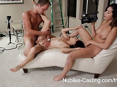 Nubiles casting - tiny latina hottie does her first hardcore audition tubes