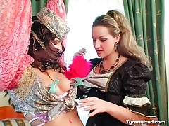 Intricate dresses on girls in femdom video tubes