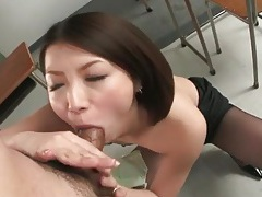 Japanese cutie rims ass and sucks cock tubes