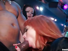 Hot girls galore at a wild party with cocksucking tubes