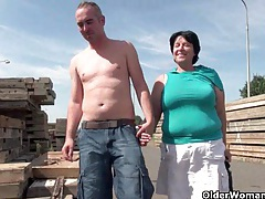 Ugly grandma with 1 inch nipples fucked outdoors tubes