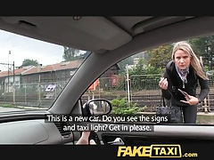 Faketaxi posh blonde falls for my out of gas trick tubes