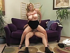 Curvy blonde with big titties rides a dick tubes