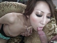 Cocksucker with little tits takes a cumshot tubes
