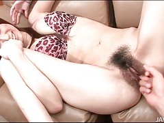 Hairy vagina of girl with perfect tits fingered tubes