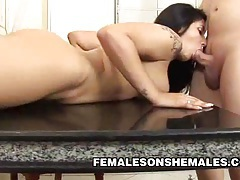 Bianca duarte - hard cock shemale fucking a busty latina babe tubes